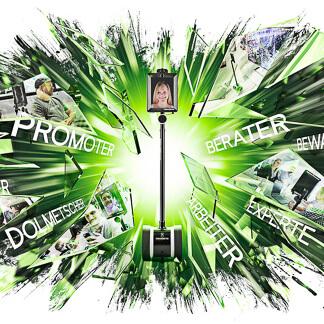 Fernarbeiter und HT - ein Startup Unternehmen im Geschäftfeld der Telepräsenzroboter. David Bock berät die Marken in der Gestaltung