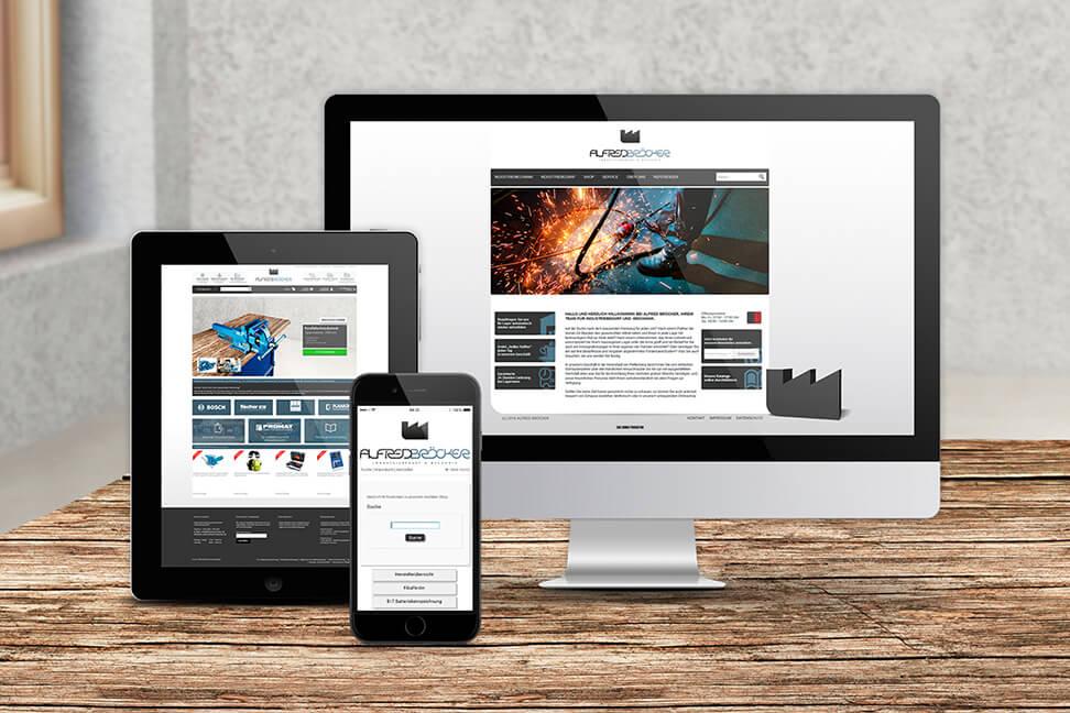 Internetpage-Plettenberg für den Kunden Alfred Bröcker - umgesetzt von der Agentur David Bock Marketing und Design aus Nordrhein-Westfalen