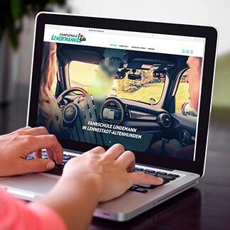 Webdesign-Lennestadt Fahrschule Lindemann - David Marketing & Design, Ihre Agentur für anspruchsvolle und moderne Umsetzungen im Internet