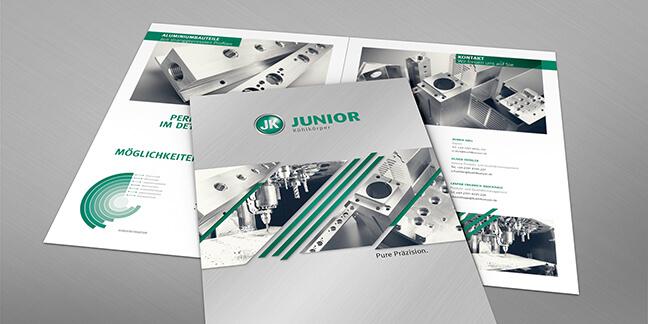 David Bock Marketing und Design, ein Projektbeispiel für unseren Kunden - Agentur-Plettenberg Junior Kühlkörper