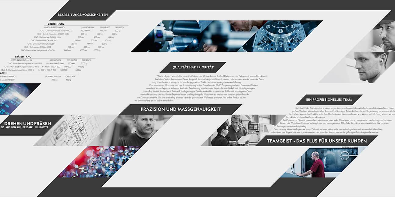 Designagentur-Lindlar Kramer Edelstahlverarbeitung - von der Agentur David Bock Marketing und Design aus Südwestfalen