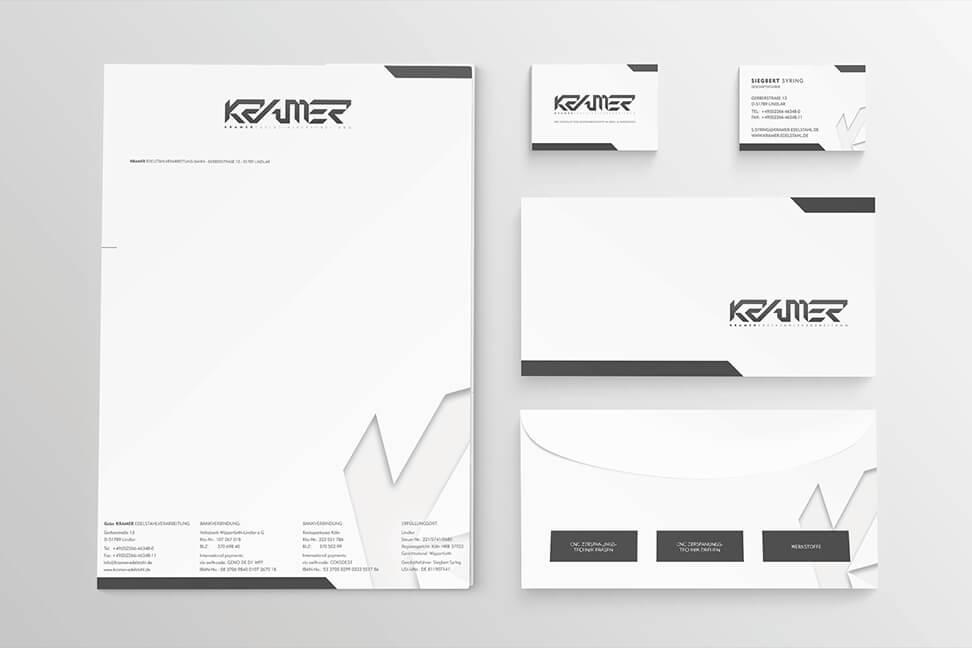 Grafik-Lindlar für den Kunden Kramer-Edelstahl von David Bock Marketing und Design aus Attendorn - Südwestfalen