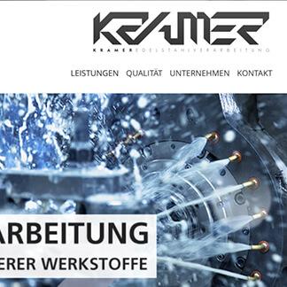 Webdesign-Lindlar für Kramer-Edelstahl - David Marketing & Design, Ihre Agentur für anspruchsvolle und moderne Umsetzungen im Web