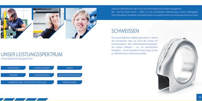 Folder-Paul-Brüser GmbH - speziell erstellt im Kundenauftrag von David Bock Marketing und Design aus Attendorn - Südwestfalen