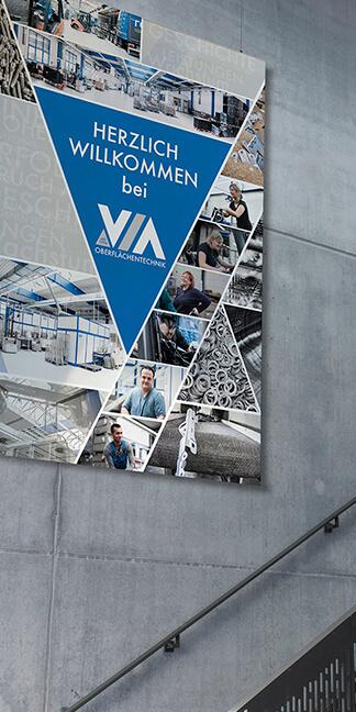 Inszenierung der Unternehmensdarstellung - Branding-VIA erstellt von der Agentur David Bock Marketing und Design - NRW