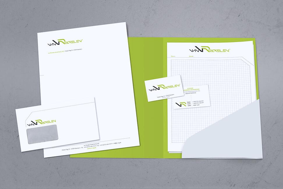 Informationsbroschüre speziell erstellt von der Agentur David Bock Marketing & Design aus Südwestfalen für den Kunden VR