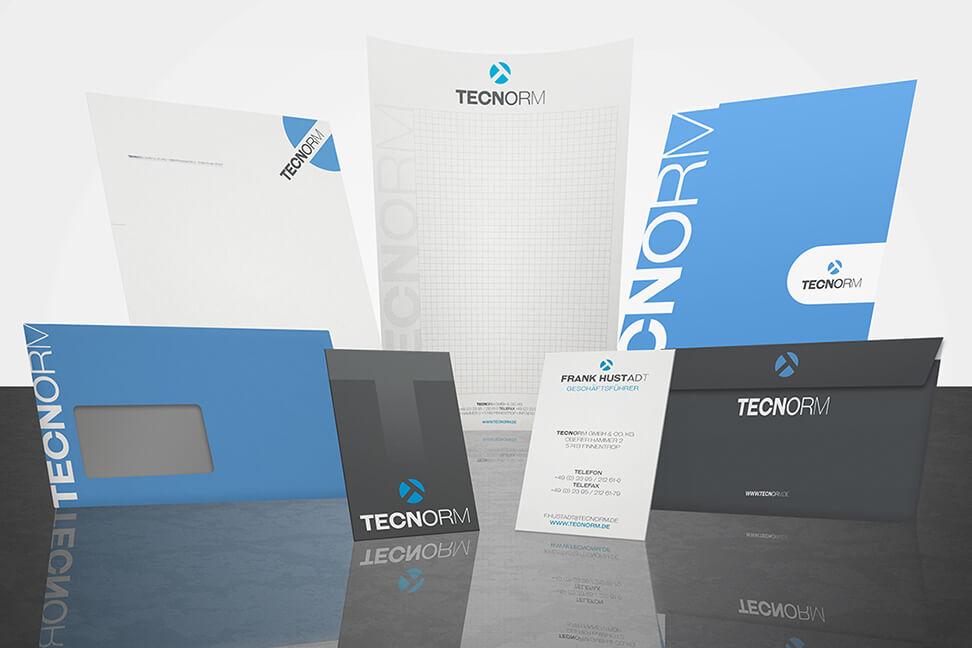 Printdesign-Finnentrop für die TECNORM GmbH & Co. KG erstellt von der Agentur David Bock Marketing und Design, Attendorn