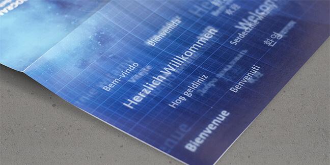 Printdesign Mubea für ein Galaevent zum Bestehen von 100 Jahren der Firma Mubea von David Bock Marketing und Design, Attendorn