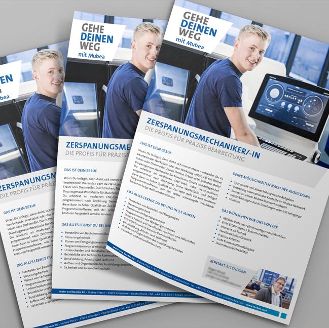 Info-Broschüre Mubea speziell erstellt im Auftrag von Mubea von David Bock Marketing und Design aus Attendorn für die Gala 100 Jahre Mubea