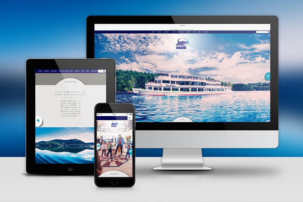 Wir haben für die Personenschifffahrt Biggesee im Zuge des Internetrelaunch, Fotografien und Printmedien erstellt. Mit unserer Arbeit ist diese nun modern und zeitgemäß aufgebaut. Schauen SIe sich doch mal unsere Umsetzung an...
