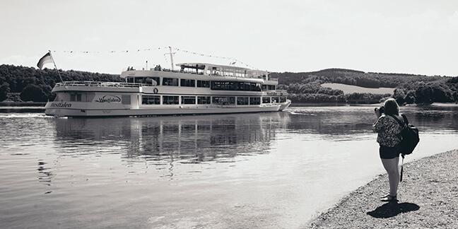 Ein Bild entstanden bei dem Relaunch des Corporate Design für die Personenschifffahrt Biggesee - Agentur David Bock Marketing und Design